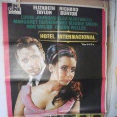 Cinema: HOTEL INTERNACIONAL, RICHAR BURTON, ELIZABETH TAYLOR. Lote 211842766