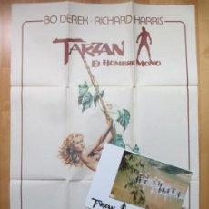 Cine: CARTEL CINE + 12 FOTOCROMOS TARZAN EL HOMBRE MONO BO DEREK RICHARD HARRIS OLIVIA 1981 CCF110. Lote 211858267