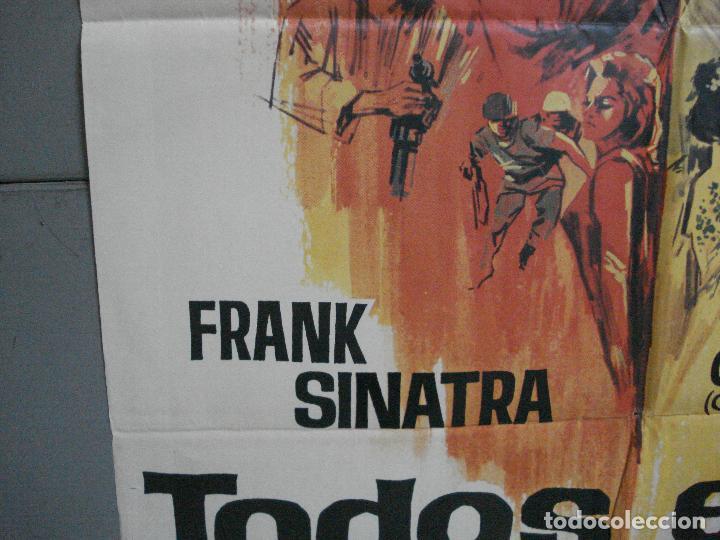 Cine: CDO 4127 TODOS ERAN VALIENTES FRANK SINATRA CLINT WALKER JANO POSTER ORIGINAL 70X100 ESTRENO - Foto 4 - 211867243