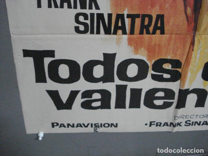 Cine: CDO 4127 TODOS ERAN VALIENTES FRANK SINATRA CLINT WALKER JANO POSTER ORIGINAL 70X100 ESTRENO - Foto 5 - 211867243