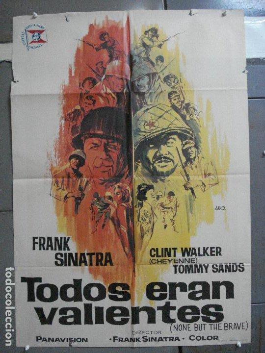 CDO 4127 TODOS ERAN VALIENTES FRANK SINATRA CLINT WALKER JANO POSTER ORIGINAL 70X100 ESTRENO (Cine - Posters y Carteles - Bélicas)