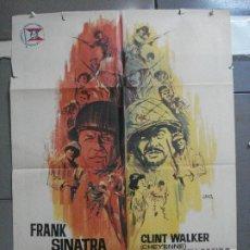 Cine: CDO 4127 TODOS ERAN VALIENTES FRANK SINATRA CLINT WALKER JANO POSTER ORIGINAL 70X100 ESTRENO. Lote 211867243