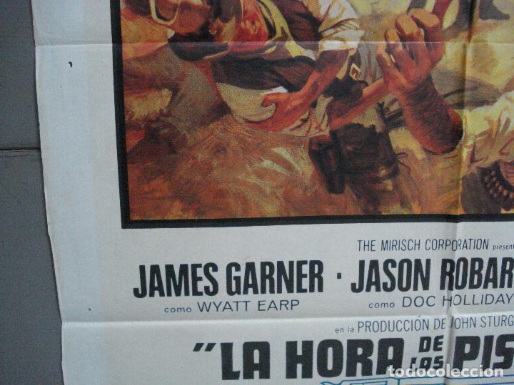 Cine: CDO 4135 LA HORA DE LAS PISTOLAS JAMES GARNER WYATT EARP OK CORRAL POSTER ORIGINAL 70X100 ESTRENO - Foto 4 - 211870636