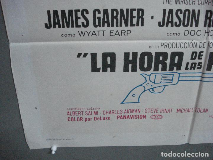 Cine: CDO 4135 LA HORA DE LAS PISTOLAS JAMES GARNER WYATT EARP OK CORRAL POSTER ORIGINAL 70X100 ESTRENO - Foto 5 - 211870636