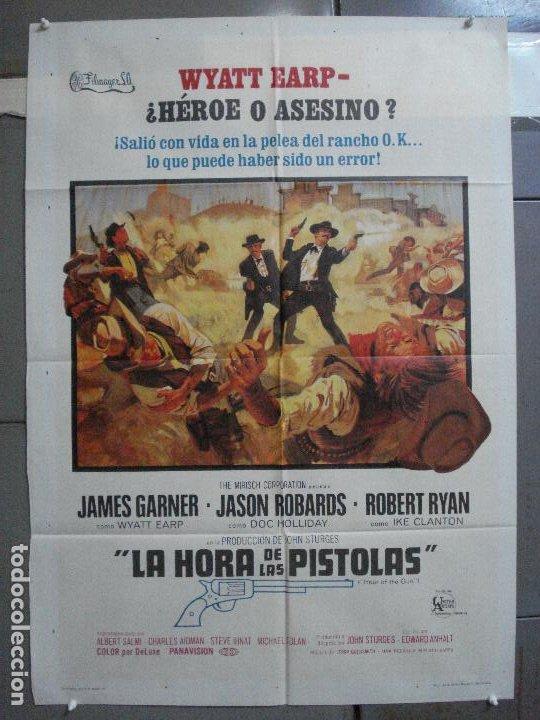 CDO 4135 LA HORA DE LAS PISTOLAS JAMES GARNER WYATT EARP OK CORRAL POSTER ORIGINAL 70X100 ESTRENO (Cine - Posters y Carteles - Westerns)