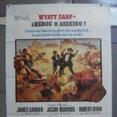 Cine: CDO 4135 LA HORA DE LAS PISTOLAS JAMES GARNER WYATT EARP OK CORRAL POSTER ORIGINAL 70X100 ESTRENO. Lote 211870636