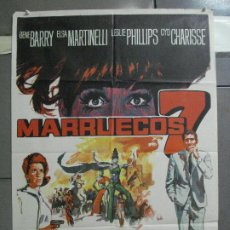Cine: CDO 4138 MARRUECOS 7 GENE BARRY ELSA MARTINELLI CYD CHARISSE POSTER ORIGINAL 70X100 ESTRENO. Lote 211871541