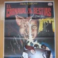 Cine: CARTEL CINE + 12 FOTOCROMOS EL CARNAVAL DE LAS BESTIAS PAUL NASCHY JANO CCF115. Lote 211874108
