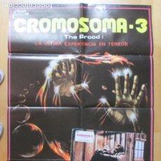 Cine: CARTEL CINE + 12 FOTOCROMOS CROMOSOMA 3 THE BROOD OLIVER REED CCF121. Lote 211876747