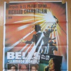 Cine: CARTEL CINE + 9 FOTOCROMOS BELLS LLAMADA MORTAL JOHN HOUSEMAN 1985 CCF124. Lote 211877978