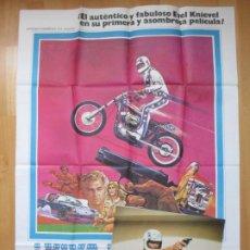 Cine: CARTEL CINE + 12 FOTOCROMOS ¡ VIVA KNIEVEL ! EVEL KNIEVEL GENE KELLY 1978 CCF126. Lote 211878711