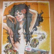 Cine: CARTEL CINE + 14 FOTOCROMOS LOS GITANOS SE VAN AL CIELO SVETLANA TOMA MATAIX 1977 CCF127. Lote 211878977