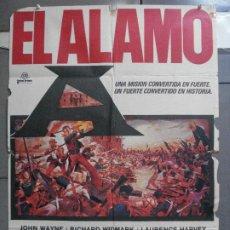 Cine: CDO 4143 EL ALAMO JOHN WAYNE POSTER ORIGINAL 70X100 ESPAÑOL R-71. Lote 211879577