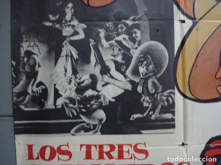 Cine: CDO 4171 LOS TRES CABALLEROS WALT DISNEY POSTER ORIGINAL 70X100 ESPAÑOL R-63 - Foto 4 - 211917623