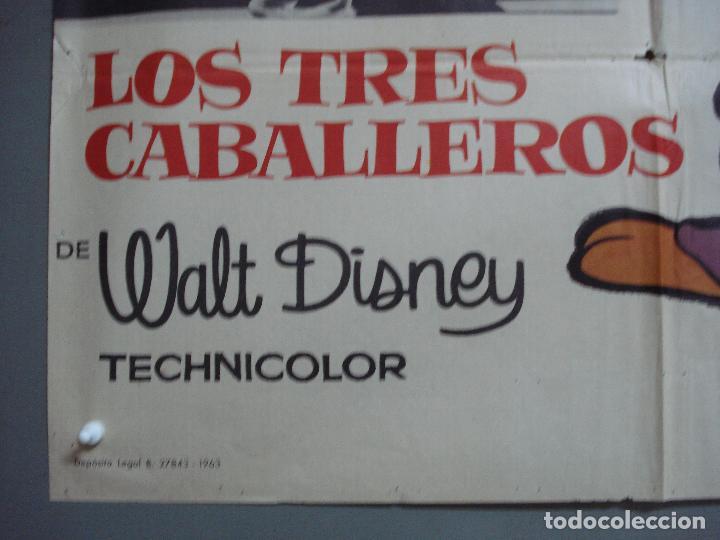 Cine: CDO 4171 LOS TRES CABALLEROS WALT DISNEY POSTER ORIGINAL 70X100 ESPAÑOL R-63 - Foto 5 - 211917623