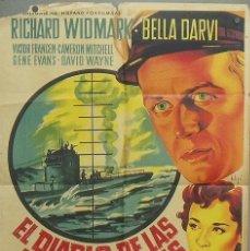 Cine: ON82D EL DIABLO DE LAS AGUAS TURBIAS RICHARD WIDMARK POSTER ORIGINA ESTRENO SOLIGO 70X100 LITOGRAFIA. Lote 211936296