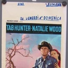 Cine: EI14D COLINAS ARDIENTES NATALIE WOOD TAB HUNTER POSTER ORIGINAL ITALIANO 33X70. Lote 211938953
