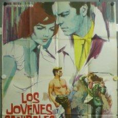 Cine: UF99D LOS JOVENES CANIBALES NATALIE WOOD ROBERT WAGNER POSTER ORIGINAL 2 HOJAS 100X140 ESTRENO. Lote 211939417