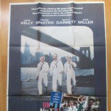 Cine: CARTEL CINE + 12 FOTOCROMOS UN DIA EN NUEVA YORK GENE KELLY FRANK SINATRA CCF130. Lote 211963681
