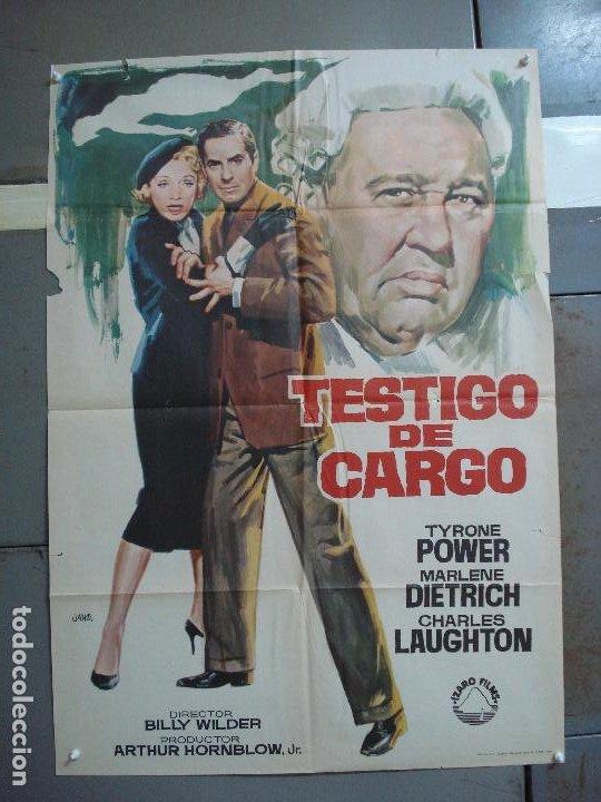 CDO 4177 TESTIGO DE CARGO MARLENE DIETRICH AGATHA CHRISTIE JANO POSTER ORIG 70X100 ESPAÑOL R-69 (Cine - Posters y Carteles - Suspense)