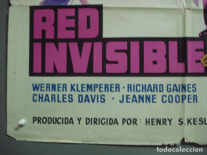 Cine: CDO 4181 RED INVISIBLE STERLING HAYDEN RUTH ROMAN POSTER ORIGINAL 70X100 ESTRENO LITOGRAFIA - Foto 5 - 211967503