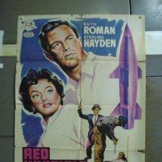 Cine: CDO 4181 RED INVISIBLE STERLING HAYDEN RUTH ROMAN POSTER ORIGINAL 70X100 ESTRENO LITOGRAFIA. Lote 211967503