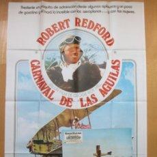 Cine: CARTEL CINE + 12 FOTOCROMOS CARNAVAL DE LAS AGUILAS ROBERT REDFORD 1975 CCF139. Lote 211969391