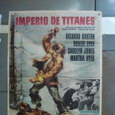 Cine: CDO 4195 IMPERIO DE TITANES RICHARD BURTON ROBERT RYAN POSTER ORIGINAL 70X100 ESTRENO. Lote 211975210