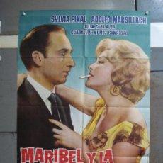 Cine: CDO 4198 MARIBEL Y LA EXTRAÑA FAMILIA ADOLFO MARSILLACH SILVIA PINAL POSTER ORIGINAL 70X100 ESTRENO. Lote 211976317