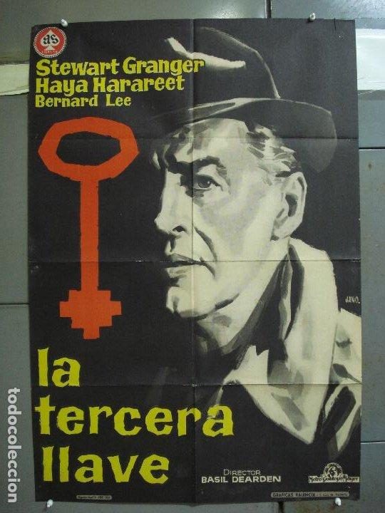 CDO 4209 LA TERCERA LLAVE STEWART GRANGER JANO POSTER ORIGINAL 70X100 ESTRENO (Cine - Posters y Carteles - Suspense)