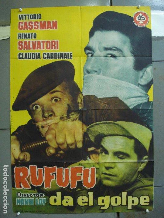 CDO 4210 RUFUFU DA EL GOLPE VITTORIO GASSMAN POSTER ORIGINAL 70X100 ESTRENO (Cine - Posters y Carteles - Acción)