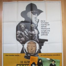 Cine: CARTEL CINE + 12 FOTOCROMOS LA TRAMA FAMILY PLOT ALFRED HITCHCOCK 1976 CCF143. Lote 211984753