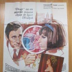 Cine: CARTEL CINE + 12 FOTOCROMOS VUELVE A MI LADO BARBRA STREISAND YVES MONTANO 1970 CCF144. Lote 211985050
