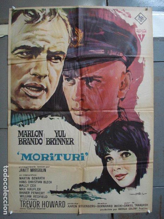 CDO 4212 MORITURI MARLON BRANDO YUL BRYNNER MATAIX POSTER ORIGINAL 70X100 ESTRENO (Cine - Posters y Carteles - Acción)