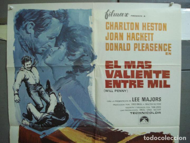 Cine: CDO 4221 EL MAS VALIENTE ENTRE MIL CHARLTON HESTON POSTER ORIGINAL 70X100 ESTRENO - Foto 2 - 211987323