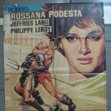 Cine: CDO 4227 SOLO CONTRA ROMA ROSSANA PODESTA LANG JEFFRIES PEPLUM POSTER ORIGINAL 70X100 ESTRENO. Lote 211997883