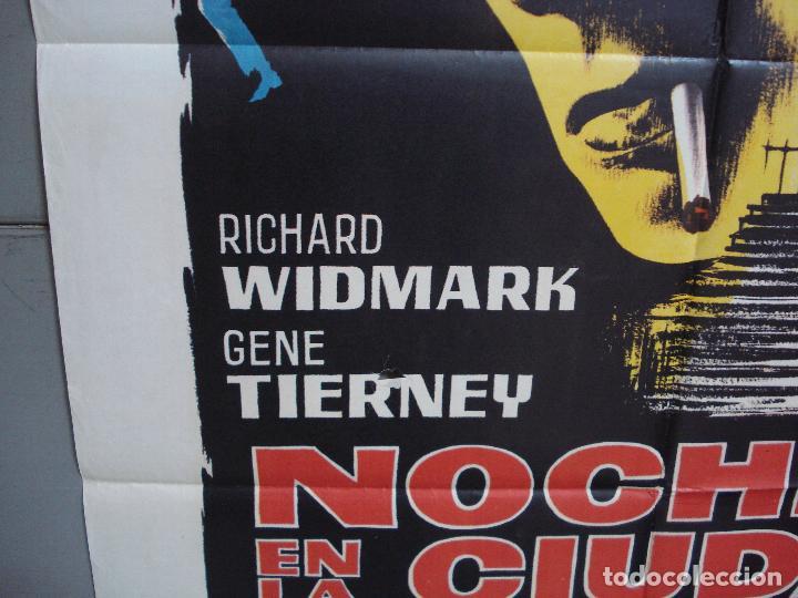 Cine: CDO 4239 NOCHE EN LA CIUDAD SINIESTRA OBSESION RICHARD WIDMARK POSTER ORIGINAL 70X100 ESTRENO - Foto 4 - 212008532