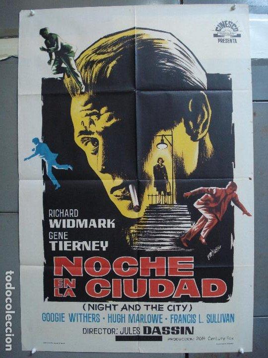 CDO 4239 NOCHE EN LA CIUDAD SINIESTRA OBSESION RICHARD WIDMARK POSTER ORIGINAL 70X100 ESTRENO (Cine - Posters y Carteles - Suspense)