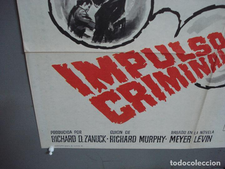 Cine: CDO 4242 IMPULSO CRIMINAL ORSON WELLES DEAN STOCKWELL POSTER ORIGINAL 70X100 ESTRENO - Foto 5 - 212010637