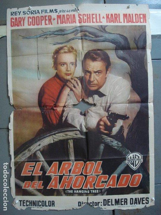 CDOX 4251 EL ARBOL DEL AHORCADO GARY COOPER MARIA SCHELL DELMER DAVES POSTER ORIG 70X100 ESTRENO (Cine - Posters y Carteles - Westerns)