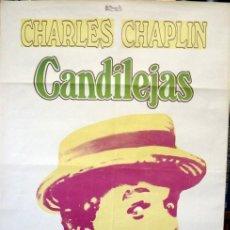 Cine: CANDILEJAS CHARLES CHAPLIN 1952. POSTER ORIGINAL DEL REESTRENO. Lote 212020003