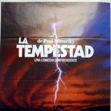 Cine: LA TEMPESTAD. POSTER ORIGINAL. PAUL MAZURSKY 1982. (70X100CM). Lote 212059721