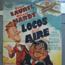 Cine: AAK65 LOCOS DEL AIRE STAN LAUREL OLIVER HARDY RAMON POSTER ORIGINAL 70X100 ESTRENO LITOGRAFIA. Lote 212064577