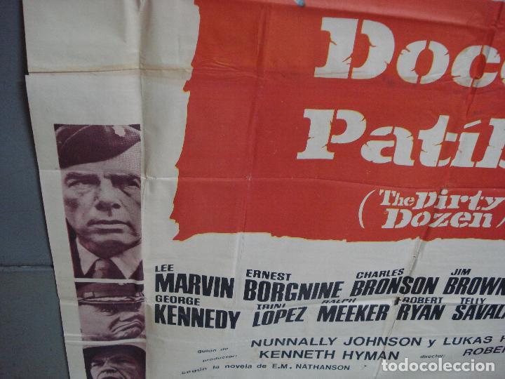 Cine: AAK69 DOCE DEL PATIBULO LEE MARVIN POSTER ORIGINAL 3 hojas 100X205 ESTRENO - Foto 6 - 212069742