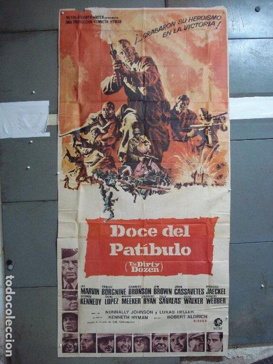 AAK69 DOCE DEL PATIBULO LEE MARVIN POSTER ORIGINAL 3 HOJAS 100X205 ESTRENO (Cine - Posters y Carteles - Bélicas)