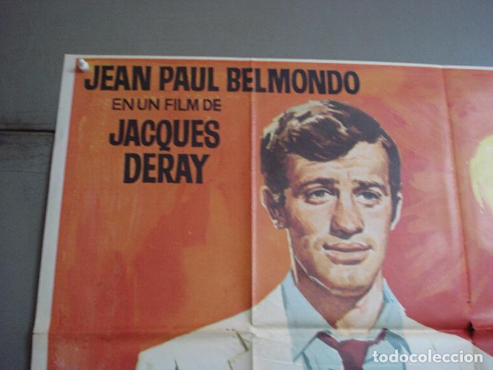 Cine: AAK84 SECUESTRO BAJO EL SOL JEAN-PAUL BELMONDO JANO POSTER ORIGINAL 3 hojas 100X205 ESTRENO - Foto 2 - 212080287