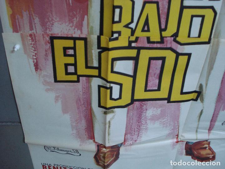 Cine: AAK84 SECUESTRO BAJO EL SOL JEAN-PAUL BELMONDO JANO POSTER ORIGINAL 3 hojas 100X205 ESTRENO - Foto 6 - 212080287