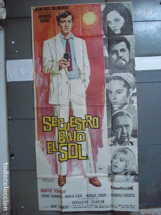 AAK84 SECUESTRO BAJO EL SOL JEAN-PAUL BELMONDO JANO POSTER ORIGINAL 3 HOJAS 100X205 ESTRENO (Cine - Posters y Carteles - Acción)