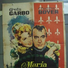 Cinema: CDO 4272 MARIA WALEWSKA CONQUEST GRETA GARBO CHARLES BOYER NAPOLEON JANO POSTER ORIG 70X100 ESPAÑOL. Lote 212103503