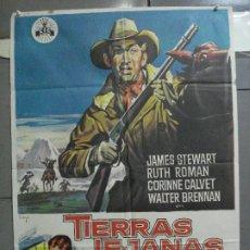 Cine: CDO 4282 TIERRAS LEJANAS JAMES STEWART ANTHONY MANN SOLIGO POSTER ORIGINAL 70X100 ESPAÑOL R-66. Lote 212115267